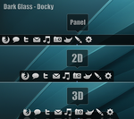 Dark Glass Docky Theme by half-left