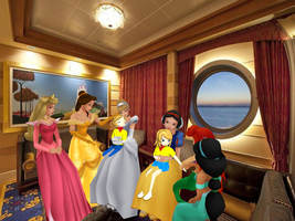 Hanging out With the Disney Princesses by Tonypilot