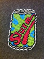 Slurm can cross stitch by Ngarner2