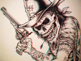 Undead Cowboy 3-D conversion by MVRamsey