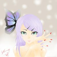 Butterfly On Your Right Shoulder - Colours by iTuski