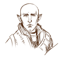 Sketch of Solas (No spoilers here) by MellorianJ