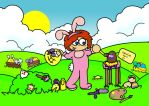 Genesis the Easter Bunny by FunkySockzLover