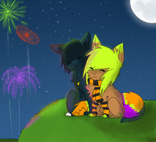 Watching Fireworks With You c: by sar-donyx