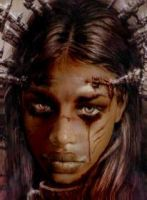 Royo tribute - Black Girl by thefuguestate
