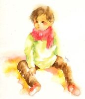 Watercolor: Child by muttiy