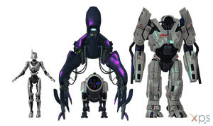 ME2 Mechs and ME1 geth colossus for XPS by Just-Jasper