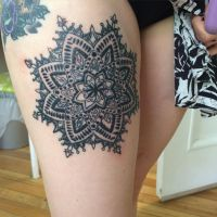 Mandala tattoo by solarkei