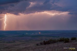 Lightning at the Palouse by djniks97