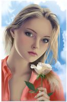 Portrait with a rose 2 by Alexxxx1