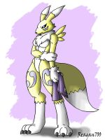 Renamon without gloves by Reagan700