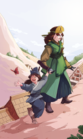 Commission - Kyoshi and Daughter by Pehesse