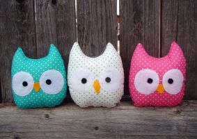 mini owls by Telahmarie