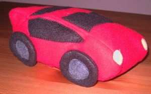 Plush Red Car by Neoitvaluocsol