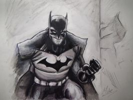 The Dark Knight: Batman Drawing by MCorderroure