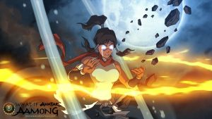 Aamong: Korra entered the Avatar State by SharksDen