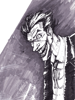 Joker-Sketch by goblinmusic