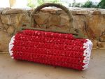 Red and White Fabric Bag by Sompy-Stuff