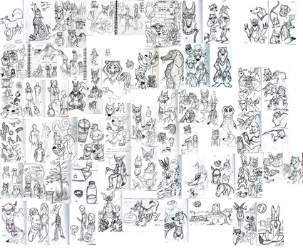 SO MANY SKETCHES by ChaosCanine