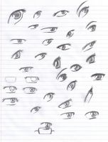 Anime Eyes Reference: Pencil by Verie