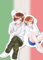 Hetalia: The Italy Brothers by vimsweet