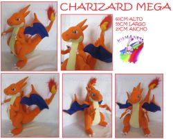 MEGA CHARIZARD PLUSH by chocoloverx3