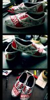 Custom Marvel Comic Shoes by swiftlogix