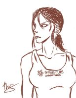 Chell - SKETCH by Shantella