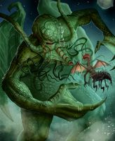 Cthulhu Spawn vs Mi Go Michael Jaecks by MichaelJaecks