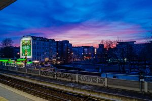 Berlin City Scape at dawn. by Schlachi
