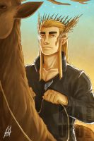Thranduil by MauroIllustrator