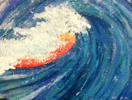 Custom Abstract Wave Painting by SamIamArt