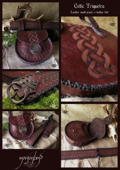 Celtic Triquetra  - waist pouch and belt by morgenland