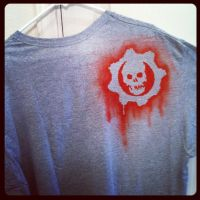 gears airbrushed tee shirt by MerrillsLeather