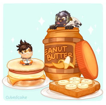 Overwatch Food Set - Peanut Butter? by CubedCake