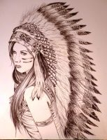 cherokee girl by AdrianLam