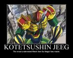 Kotetsushin Jeeg Motivational Poster. by postalthehedgehog