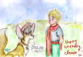 Little prince and the... fox? by DaniBlueStar