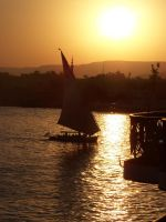 Nile River, Egypt by Enllunada
