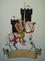 A Knight In Armor On A Steed by casey62