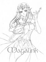 Another Zelda TP Sketch XD by Maga-Link