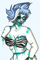 Blue Zombie Girl by androidfink