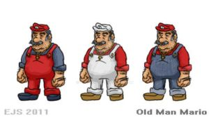 Old Man Mario Color Schemes by toadking07