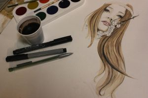 Painting with coffee by TweetyHanh