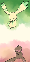 Terriermon and Lopmon by Pidoodle