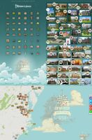 Historic places map icons. by AlexandraF