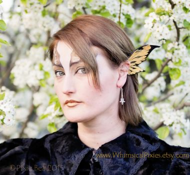 Gold Fairy Ear Wings- 'Wicked' design by WhimsicalPixies
