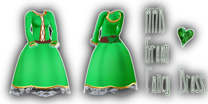 Mmd Fancy Green Dress by Tehrainbowllama