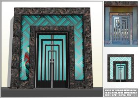 Art Deco - Door No.3 by lumilanous
