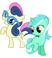 Filly Lyra and Bon Bon by Midnight--Blitz